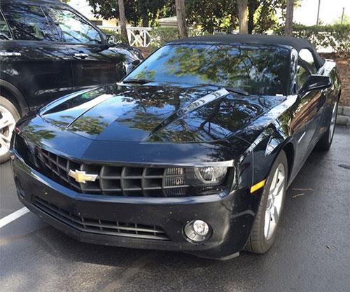 chevrolet camaro noire en Floride