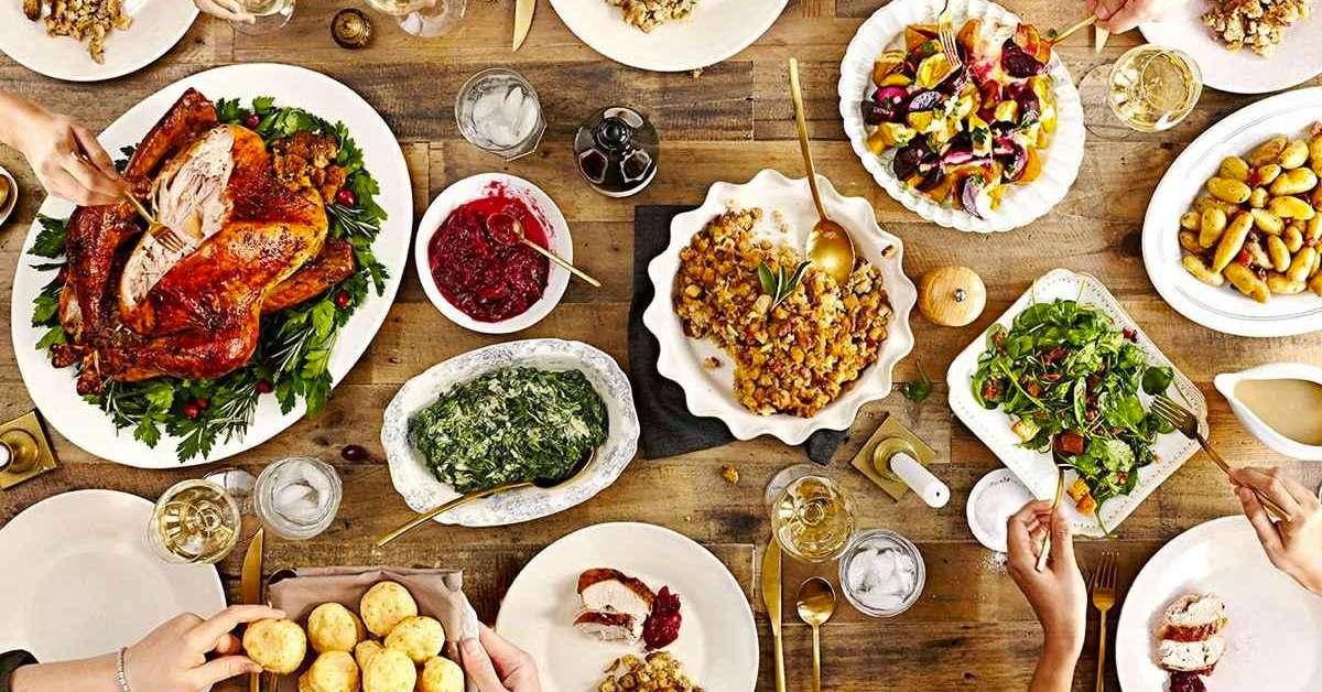 Table de repas Thanksgiving
