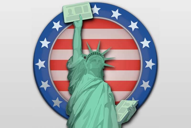 statue de la liberté green card