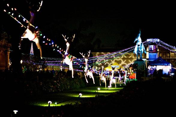 spectacle noel balboa park san diego californie