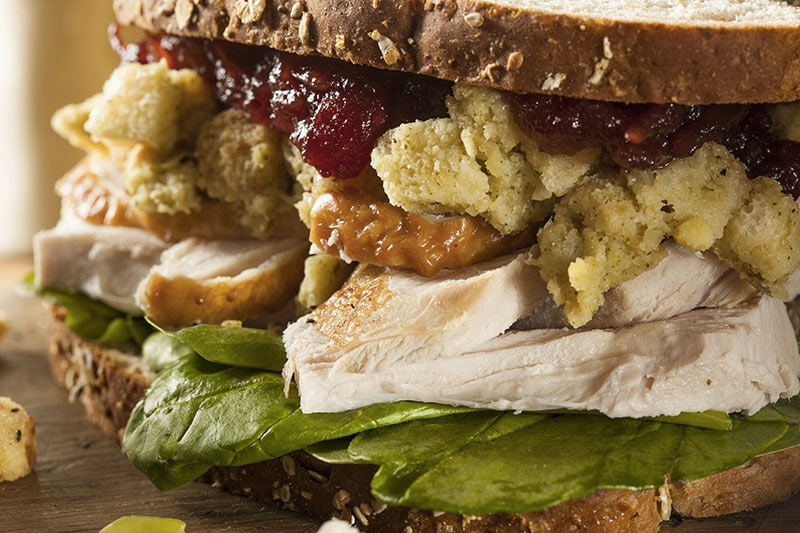 sandwich avec stuffing de thanksgiving