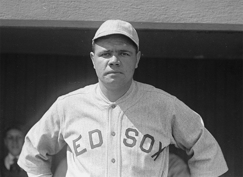 Babe Ruth et sa casquette de baseball