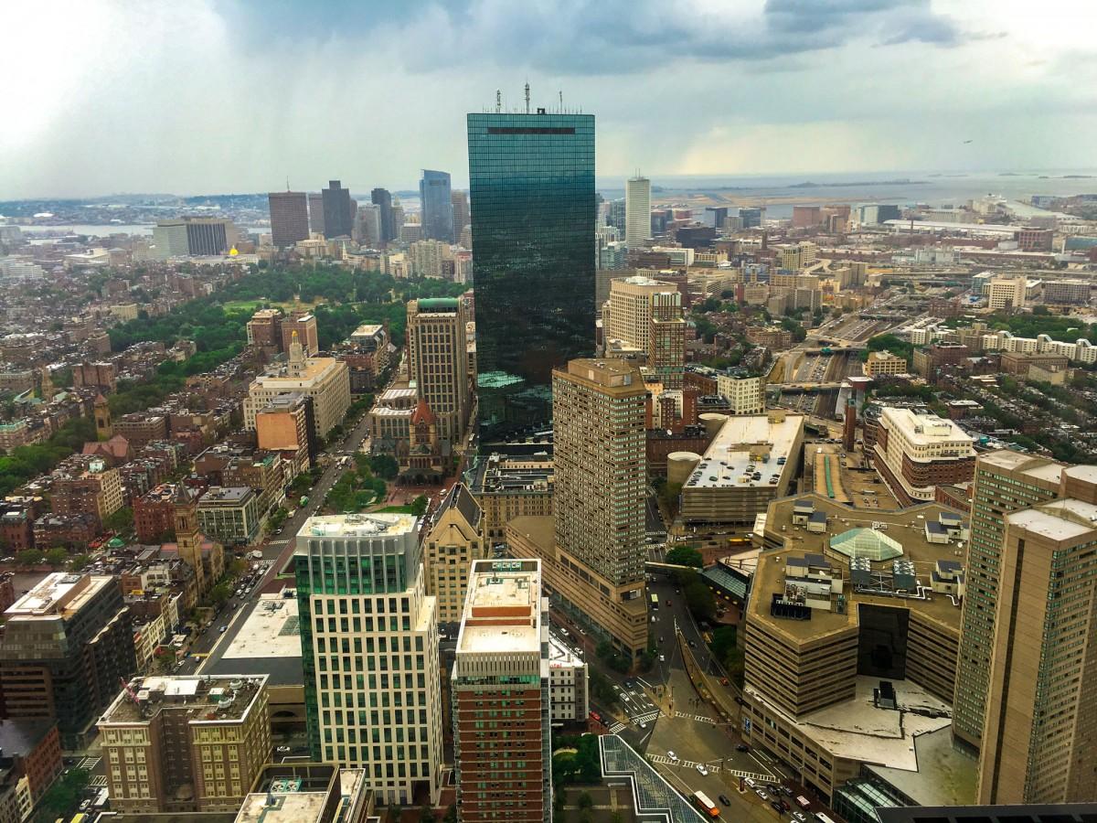 John Hancock Tower depuis Prudential Tower