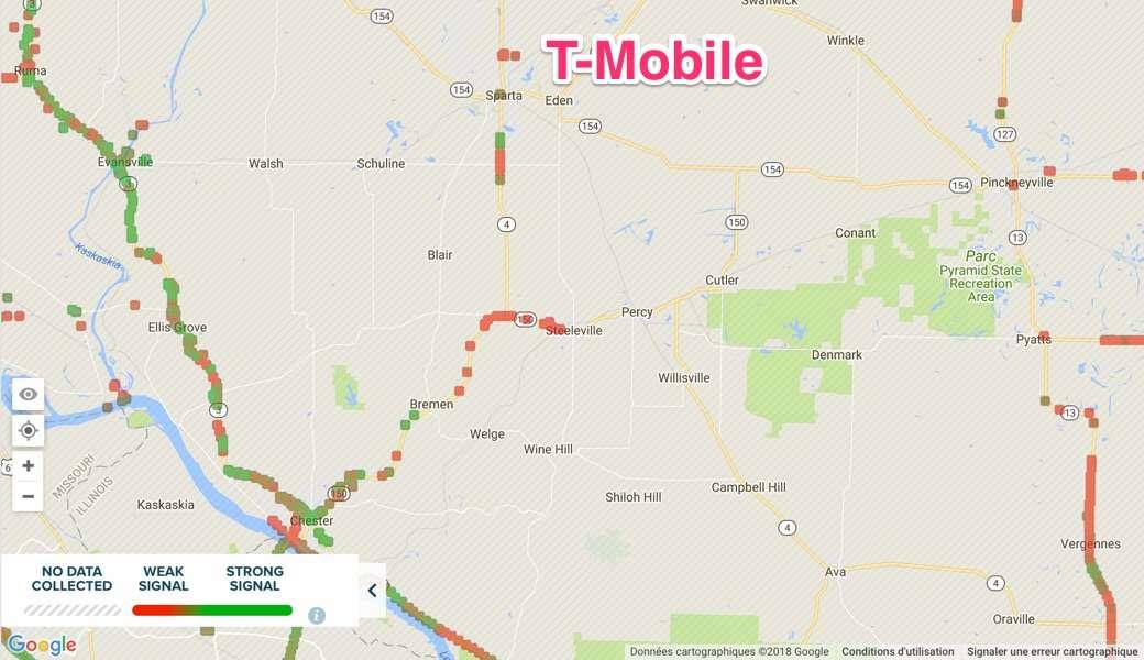 Carte de Couverture 4G T-Mobile