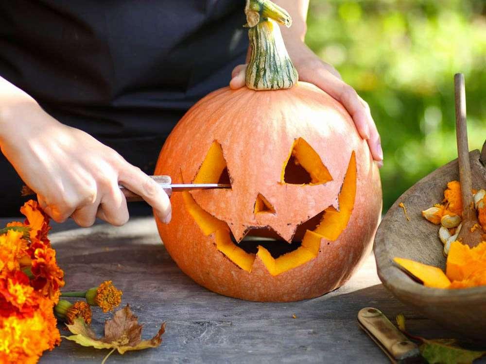 Creuser citrouille d'Halloween